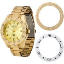Relógio Feminino Backer 3304145F - Analógico Resistente a Água Troca Aros