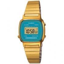 Relógio Feminino Casio Digital - Resistente a Água LA670WGA-2DF