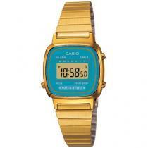 Relógio Feminino Casio LA670WGA-2DF - Digital Resistente a Água