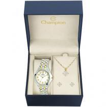 Relógio Feminino Champion Analógico - CH22877E com Bijouteria