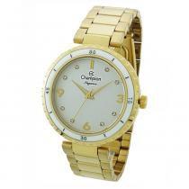 d7059f9a998 Relógio Feminino Champion Analógico CN25270H - Dourado Branco -