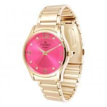 5503b4128a4 Relógio Feminino Champion Analógico CN26215L - Dourado - Único - Champion
