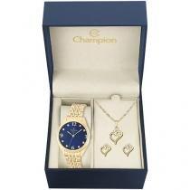 Relógio Feminino Champion Analógico - CN26251K com Bijouteria