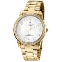 Relógio Feminino Champion Analógico Passion - Dourado com Brinco e Colar