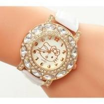Relógio Feminino de Pulso Hello Kitty Branco - Outras marcas