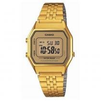 Relógio feminino digital casio la680wga-9df - dourado - Casio