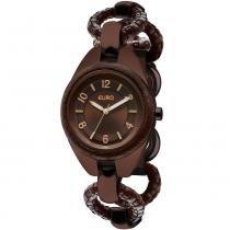 Relógio Feminino Euro Analógico EU2035LQG/3M - Marrom - Único -