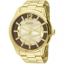 76146526687 Relógio Feminino Euro Triangular Analógico EU2036LYB 4K Dourado -