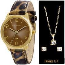 Relógio Feminino Lince Analógico - Resistente à Água LRC4301LK106M2T com Bijouteria