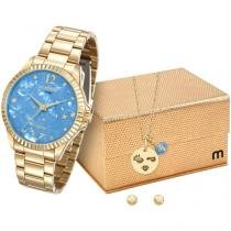 Relógio Feminino Mondaine Analógico - Resistente à Água 99128LPMKDE3K1 com Bijouteria