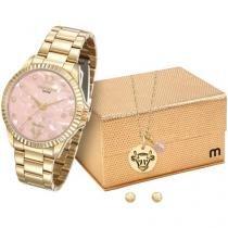 Relógio Feminino Mondaine Analógico - Resistente à Água 99128LPMKDE4K1 com Bijouteria