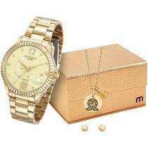 Relógio Feminino Mondaine Analógico - Resistente à Água 99128LPMKDE7K1 com Bijouteria