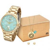 Relógio Feminino Mondaine Analógico - Resistente à Água 99129LPMKDE1K1 com Bijouteria