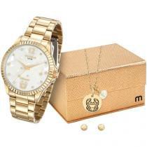 Relógio Feminino Mondaine Analógico - Resistente à Água 99129LPMKDE2K1 com Bijouteria