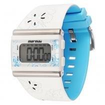 Relógio Feminino Mormaii Digital YP9443/8A - Branco - Único - Mormaii