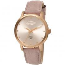 Relógio feminino mormaii rosê maui - mo2035fu/2k - Mormaii