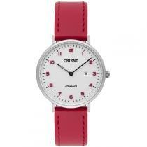 1ecd2d37806 Relógio Feminino Orient Sapphire FBSCS0003 S2VX Couro Vermelho -