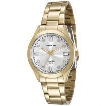 Relógio Feminino Seculus Analógico Resistente à - Água Long Life 20349LPSVDA1