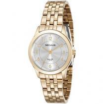 Relógio Feminino Seculus Analógico - Resistente a Água Long Life 20490LPSVDA1