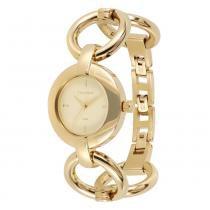 Relógio Feminino Technos Analógico 2115KOK/4B - Dourado - Único -