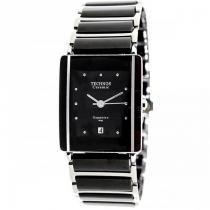 Relógio Feminino Technos Ceramic 1N12ACPAI/1P 25mm Aço Prata/Cerâmica Preta -