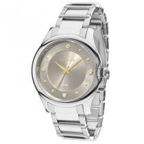Relógio Feminino Technos Crystal 2035MFS/3C 38mm Aço Prata - Technos