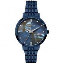 Relógio feminino technos fashion trend 2036mjh/5a azul -
