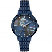 Relógio Feminino Technos Trend 2036MJH/5A 36mm Aço Azul - Technos