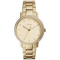 40122180107 Relógio Fossil Feminino Ref  Es4289 4dn Slim Dourado -