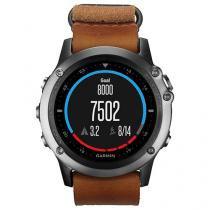 Relógio Garmin Fenix 3 Safira NATO - Pulseira de Couro GPS