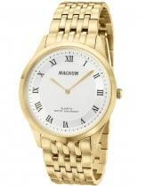 Relógio magnum ma21919h dourado super fino -