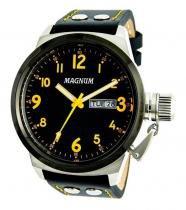 Relógio magnum ma32774j calendario pulseira couro -
