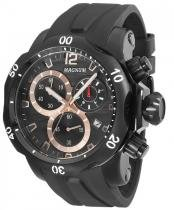 Relógio magnum ma33755p calendario cronografo pulseira silicone -