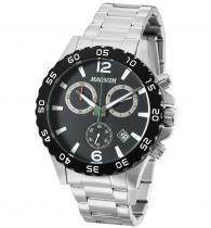Relógio magnum ma34398g cronografo pulseira metal prata - Magnum