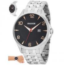 01a887204ec Relógio Magnum Masculino Ref  Ma33291t Casual Prateado -