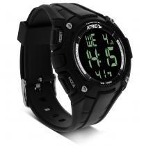 Relógio Masculino Atrio Cobalt LCD Multifunção Preto Alarme Cronômetro -