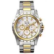 Relógio Masculino Bulova Analógico - Resistente à Água Cronógrafo WB 30864 S
