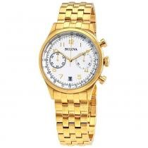 f8df9ac9a74 Relógio Masculino Bulova Dress WB22391H - Dourado -