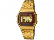 Relógio Masculino Casio A159WGEA-5DF - Digital Resistente a Água Cronômetro Calendário