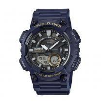 Relogio Masculino Casio Anadigi Azul AEQ-110W-2AVDF -