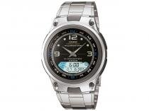 Relógio Masculino Casio Anadigi  - Fishing Gear Prata