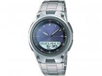 Relógio Masculino Casio Anadigi  - Mundial AW-80D-2AVDF Prata