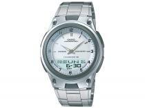 Relógio Masculino Casio Anadigi - Mundial AW-80D-7AVDF Prata