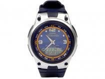 Relógio Masculino Casio Anadigi - Resistente à Água Cromômetro AW 82 2AVDF