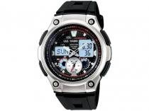 Relógio Masculino Casio Anadigi - Resistente à Água Cronógrafo AQ-190W-1AVD