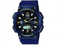 Relógio Masculino Casio Anadigi  - Resistente à Água Cronômetro AQ-S810W-2AVDF