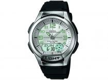 Relógio Masculino Casio Anadigi - Resistente à Água Cronômetro Mundial AQ180V 7BVDF