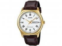 Relógio Masculino Casio Analógico  - MTPV006GL7BUDF Marrom