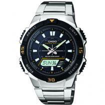 Relógio Masculino Casio AQ-S800WD-1EVDF - Anadigi com Cronômetro e Calendário