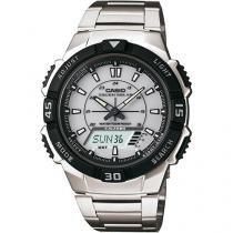 Relógio Masculino Casio AQ-S800WD-7EVDF - Anadigi Resistente à Água Calendário